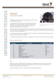 Diafragmas - Válvulas a Diafragma VALIA