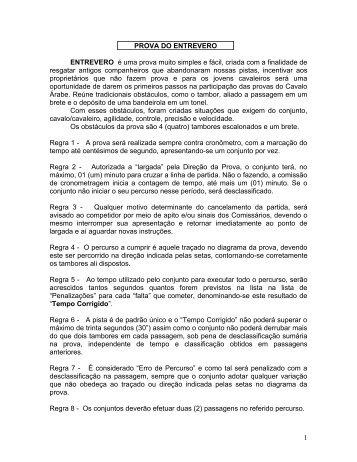 "PROVA ""CINCO TAMBORES"" - TW7"