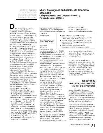 Muros Diafragmas en Edificios de Concreto Reforzado - Revista de ...