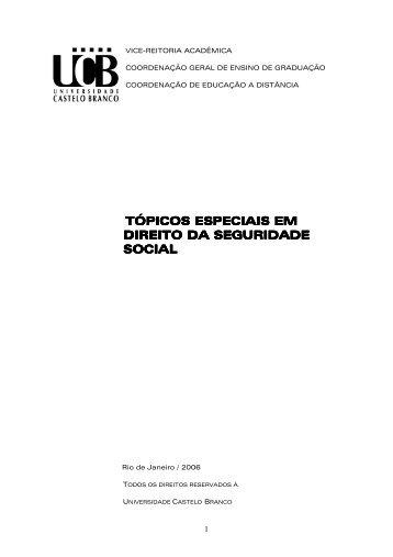 Direito previdenciário ead diagramado - Universidade Castelo Branco