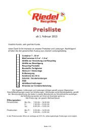 klicken - Riedel Recycling GmbH