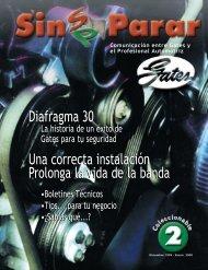 Diafragma 30 Una correcta instalación Prolonga la vida de la banda ...