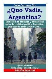 ¿Quo Vadis, Argentina? - Julio Carreras