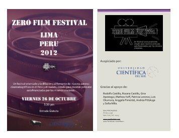 Auspiciado*por:** Gracias*al*apoyo*de - Zero Film Festival
