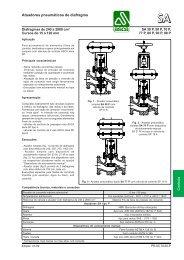 Atuadores pneumáticos de diafragma - Asca