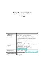 Anwenderdokumentation FUND - Riedel SfB GmbH