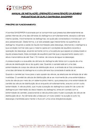 manual de instalação, operação e manutenção da bombas de ...