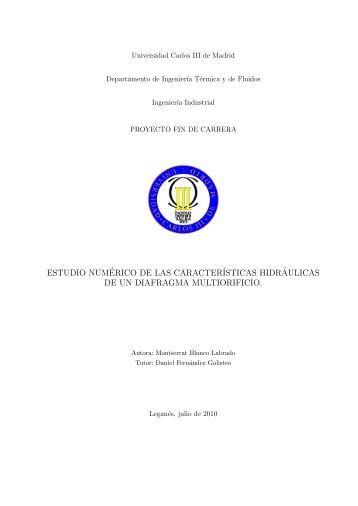 estudio numérico de las características hidr - Archivo Abierto ...