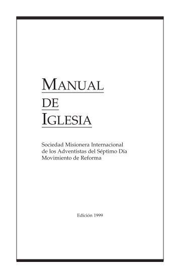 Manual de Iglesia-Castellano.indd - Sociedad Misionera ...