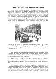 la procesión: significado y componentes. - Calzada de Calatrava