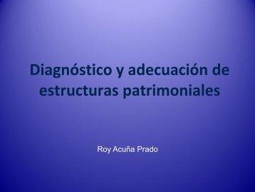 Diagnóstico y adecuación de estructuras patrimoniales