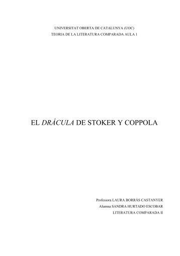 EL DRÁCULA DE STOKER Y COPPOLA - Hermeneia