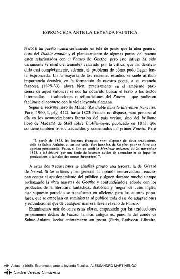 Actas II. AIH. Espronceda ante la leyenda fáustica. ALESSANDRO ...