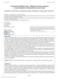 Caries dental en diabéticos tipo 1: Influencia de ... - Medicina Oral
