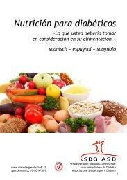 Nutrición para diabéticos «Lo que usted debería tomar ... - Migesplus
