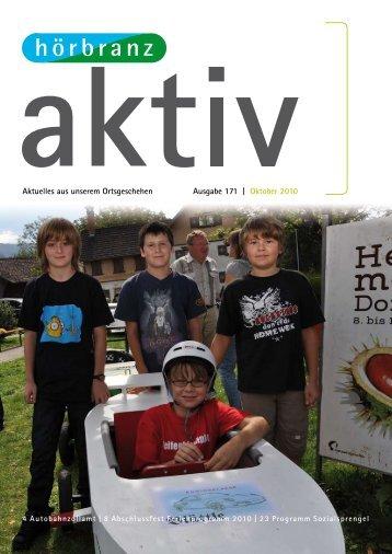 Aktuelles aus unserem Ortsgeschehen Ausgabe 171 | Oktober 2010