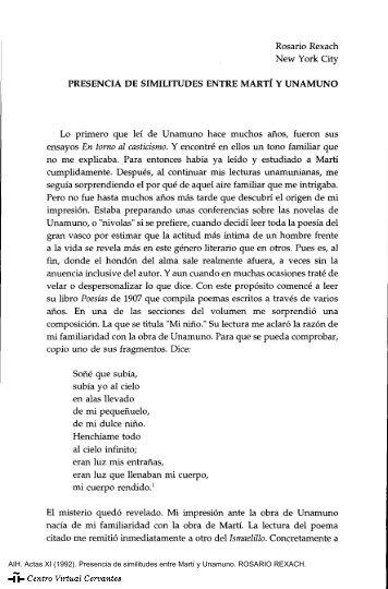 Actas XI. AIH. Presencia de similitudes entre Martí y Unamuno ...