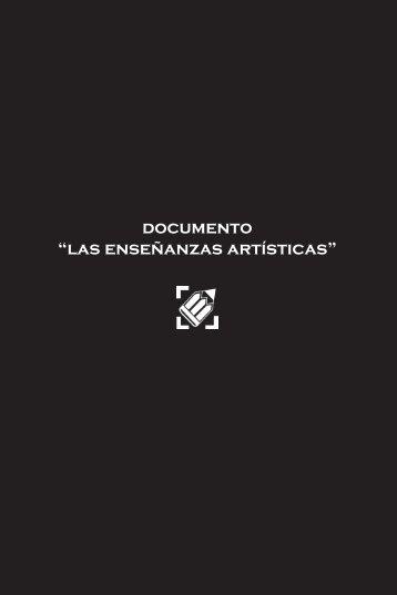 """documento """"las enseñanzas artísticas"""""""