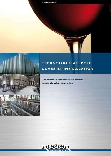technologie viticole cuves et installation - Rieger Behälterbau GmbH