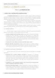 TEMA 6: LA OBSERVACIÓN - Psicocode