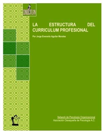 LA ESTRUCTURA DEL CURRICULUM PROFESIONAL - Conductitlan
