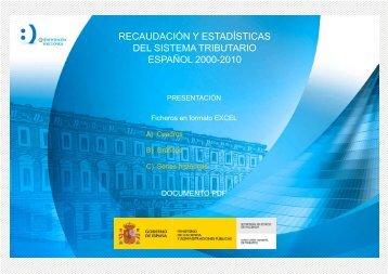 recaudación y estadísticas del sistema tributario español. 2000 - 2010