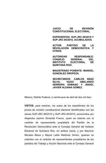 JUICIO DE REVISIÓN CONSTITUCIONAL ELECTORAL - Tribunal ...