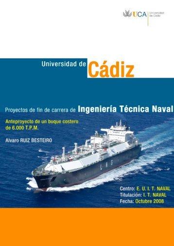 calculo del peso muerto - Universidad de Cádiz