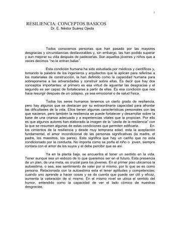 RESILIENCIA: CONCEPTOS BASICOS - Accion Católica Argentina