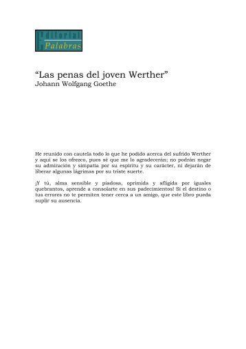 """""""Las penas del joven Werther"""" - Recomendaciones de libros"""