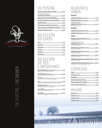 Descargar Carta del Restaurante en PDF - Restaurante De Santa ...