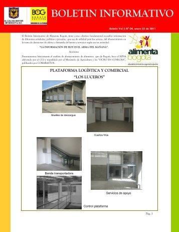 Boletin informativo Vol 3 Nº 04 (enero 25-2011). - Alimenta Bogotá