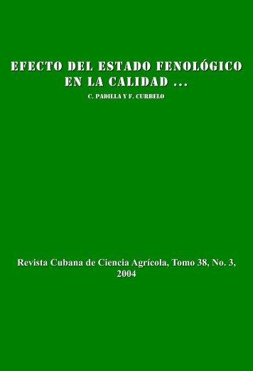 Efecto del estado fenológico en la calidad y producción de biomasa ...