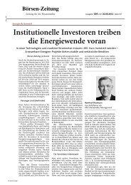 Institutionelle Investoren treiben die Energiewende ... - Altira Group