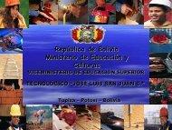 República de Bolivia Ministerio de Educación y Culturas