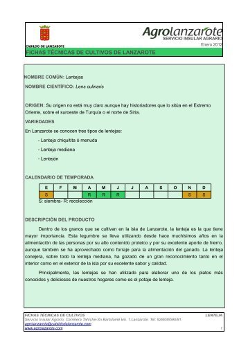 NOMBRE COMÚN - Agrolanzarote