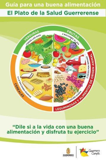 Guía para una buena alimentación El Plato de la Salud Guerrerense