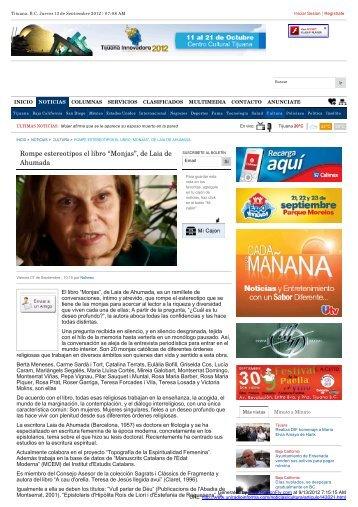 """Rompe estereotipos el libro """"Monjas"""", de Laia de Ahumada"""