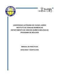 Geología y Edafología - Universidad Autónoma de Ciudad Juárez