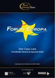 Don Cayo Lara - Nueva Economía Fórum