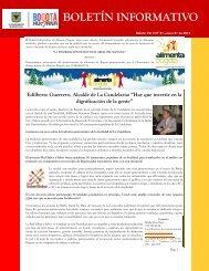 Boletin informativo Vol 5 Nº 01(ene 01-2013). - Alimenta Bogotá