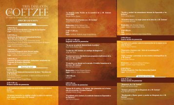 Plegable Seminario Coetzee - El Espectador