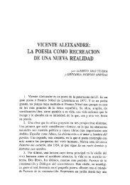 VICENTE ALEIXANDRE: LA POESIA COMO RECREACION