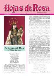 En los brazos de María el Niño duerme - Hijas de María del Rosario