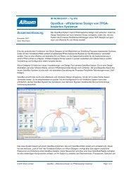 Openbus - effizienteres Design von FPGA- basierten ... - Altium