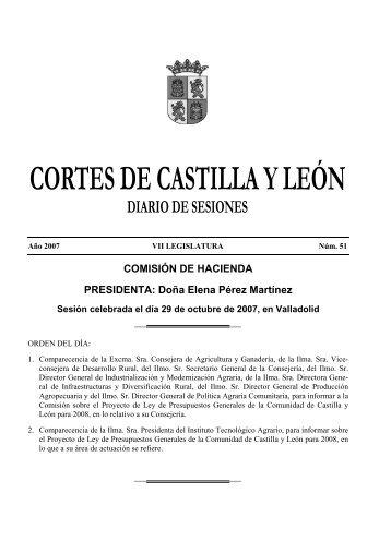 COMISIÓN DE HACIENDA PRESIDENTA: Doña Elena Pérez Martínez