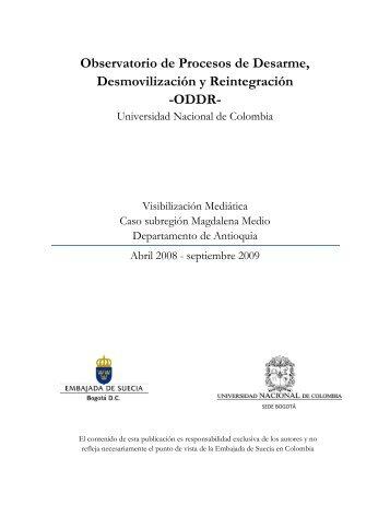 El Caso Magdalena Medio - Observatorio DDR - Universidad ...