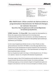 Pressemitteilung - Altium