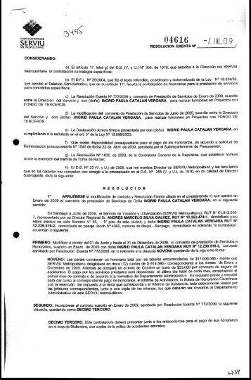 metropolitano resolucion exenta n - Documentos Sector Vivienda