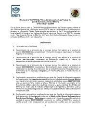 "Minuta de la ""CXVIII/08/Ex."" Reunión Extraordinaria de ... - issste"